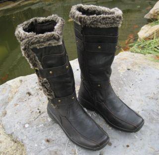 Faux Wool Fur Polar Boots Apres LAMO Sizes 6 10 Dark Brown