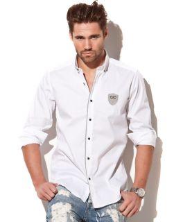 Antony Morato Stretch Grey Lining White Shirt Sheld