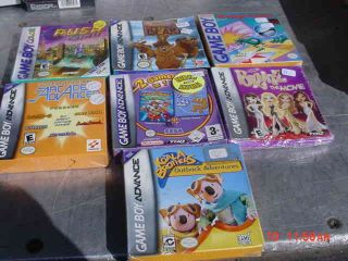 WHOLESALE LOT OF 7 GAME BOY ADVANCE GAMES BOXED FACTORY SEALED WOW