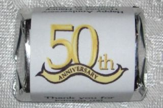 50th Anniversary Party Favors Candy Wrappers Labels