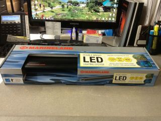 Double Bright LED Lighting System Fits 18 24 Fish Tanks & Aquariums