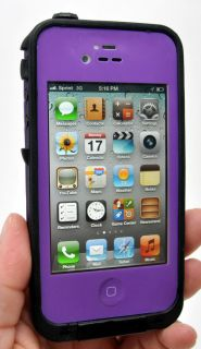 New Waterproof Apple iPhone 4 4S Cell Phone Protective Case Purple