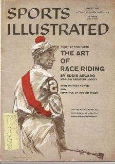 1957 Eddie Arcaro Sports Illustrated Horse Racing Jockey Triple Crown