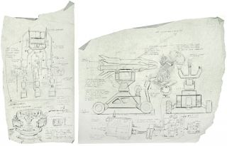 Iron Man Schematic Drawings of the Jericho Missile and Arc Reactor