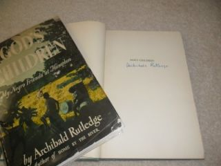 Archibald Rutledge Signed Hampton Plantation SC Gods Children Noble