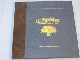 Franklin Mint Roger Miller Minnie Pearl Ray Stevens 2 Red Vinyl LP Box