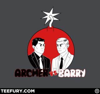 New Teefury Wm Archer vs Barry Spy Mad Magazine TV PARODY Bomb Woot