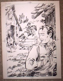 Roy Rogers original art by Michael Arens published in Book Brasada