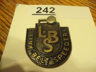 Vintage Empire Crane Inc Link Belt Speeder Watch Fob