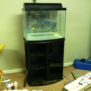 46 gallon bow front fish aquarium with stand for 29 gallon fish tank stand