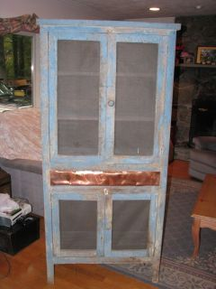 Antique Primitive Pie Safe Kitchen Cupboard Cabinet