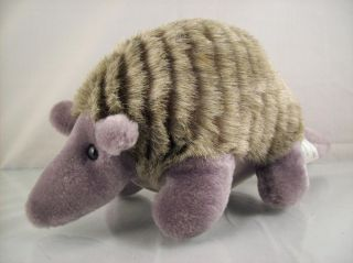 Armadillo Plush Stuffed Animal with Baby inside Belly Pouch CUTE