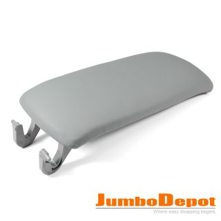 Gray Leatherette Center Console Armrest Cover Lid for Audi A6 2000