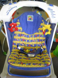 Fisher Price 5 Speed Travel Portable Infant Baby Swing Take Along BUGS