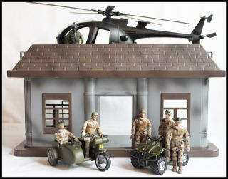 18 POWER TEAM ELITE POWER COMMAND PLAYSET World Peacekeepers Army