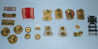 Awards Badges Buttons Metal Medals Clutch Pins Cloth Ribbons Lot