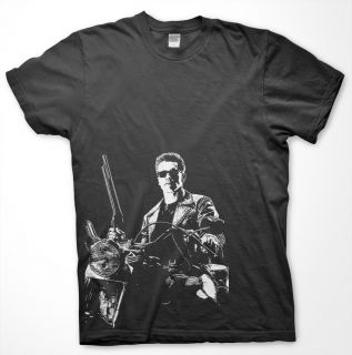 Terminator 2 High Quality T Shirt Arnold Shwartnegger Expendables 80s