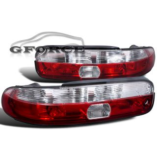 1992 1994 Lexus SC300 sc400 JDM Red Clear Tail Lights