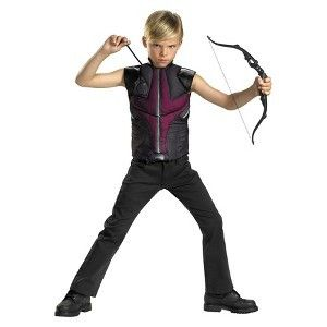 THE AVENGERS HAWKEYE COSTUME MUSCLE TOP SIZE 4 6 BOW ARROWS CHILD BOYS