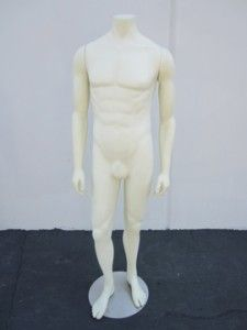 1295~FULL BODY FORM~MANNEQUIN~MUSCULAR TORSO MALE MANNEQUIN~~W/ STAND