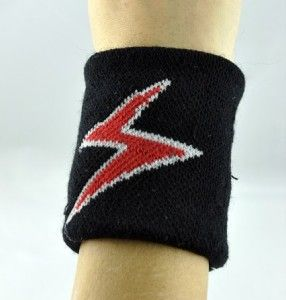 Bolt Wristband Heavy Metal Sweatband Death Slayer Iron Maiden