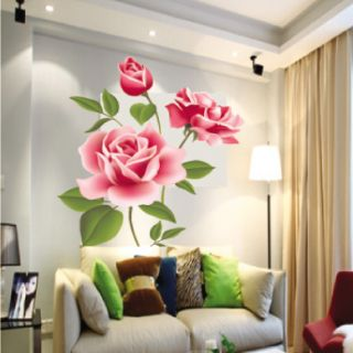 Rose Flowers Romantic room decor art mural WALL DECAL DECOR Wall
