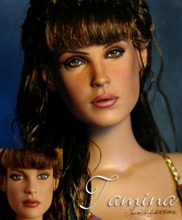 Doll Repaint Inspired by Gemma Arterton OOAK by Laurie Leigh