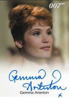 James Bond Heroes Villains Auto Card Gemma Arterton