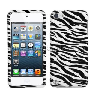 apple ipod touch 5th gen case black zebra hard snap on faceplate cover