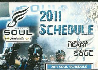 Arena Football League AFL Philadelphia Soul 2011 Pocket Football