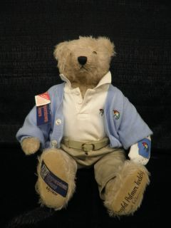 Arnold Palmer Signed Masters Champion Cooperstown Bear L E 20 1000 JSA