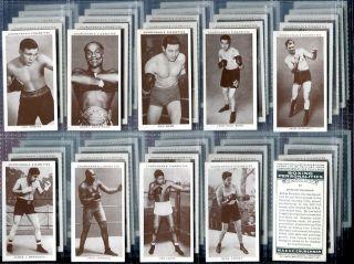 Tobacco Card Set Churchman Boxing Personalities Boxers Dempsey Louis