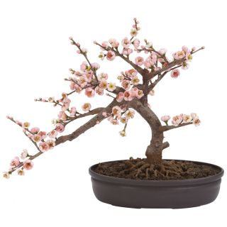 New Artificial Silk Pink Flower Cherry Blossom Small Realistic Bonsai