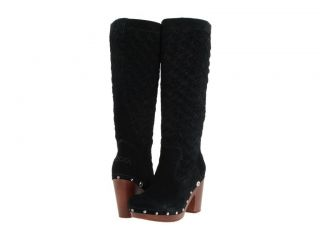NEW IN BOX UGG ARROYO WEAVE CLOG TALL BOOTS BLACK BOOTS SZ 9 WOMENS OP