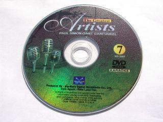 Pop Artists Paul Simon Art Garfunkel DVD Karaoke CD