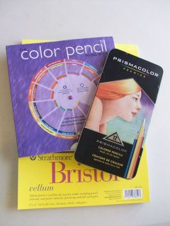 Art Set Prismacolor Colored Pencils Color Pencil Book Bristol Paper