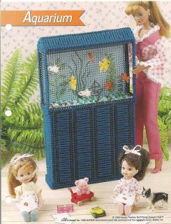 Aquarium Fish Barbie Fashion Doll Plastic Canvas Pattern