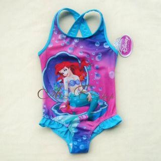 Girls Princess Ariel Mermaid Swimming Swim Costume Swimsuit Ages 3 8