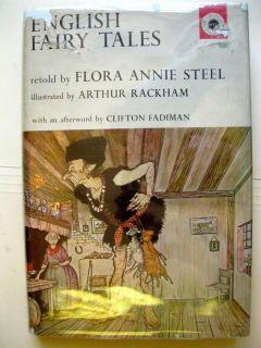 Arthur Rackham illustrated English Fairy Tales 1962 vintage book Flora