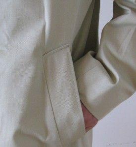 AQUASCUTUM London Wool Button Out Liner Mans Aqua 5 Mac Over Coat
