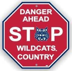 university of arizona wildcats stop sign street ncaa