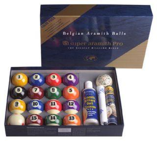 Super Aramith Pro Pool Table Ball Advantage Set Value Pack New