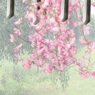 Artificial Fake Pink Cherry Flowers Blossom Spray Branch Wedding