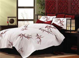 Elegant Asian Inspired Cherry Blossom Comforter New