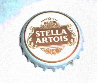 Stella Artois Lager Beer Bottle Cap Crown Logo England