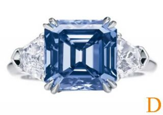 Stone Cornflower Blue Asscher Cut Kite Sapphire Diamond 950 Ring