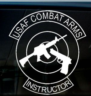 USAF Combat Arms Instructor Decal Sticker US Air Force