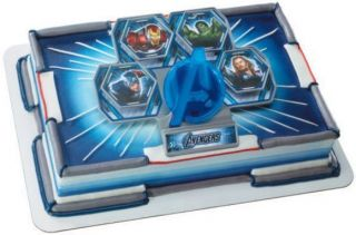 Avengers Assemble Cake Topper Decorating Set Look
