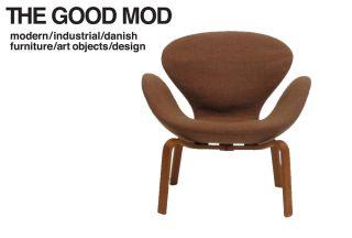Arne Jacobsen Swan Chair   Bent Wood Base   (5 AVAILABLE)   Danish