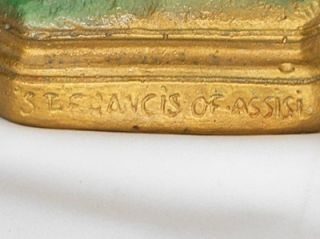 Religious Chalkware St Francis of Assisi Statue Artist Signed